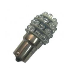Лампа светодиод. 1-но контакт. 13 кристаллов красная