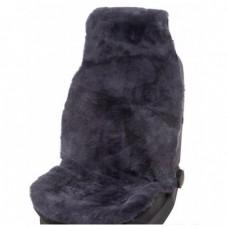 Накидка на сидение (овчина) Jolly Lux темно-серая