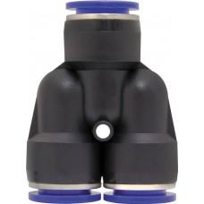 Фитинг соединитель пластиковый Y-образный  14 мм (PUY14)