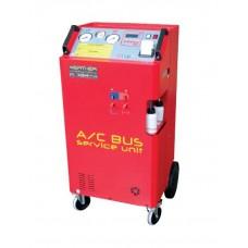 Суперавтоматическая установка для обслуживания кондиционеров грузовых автомобилей и автобусов.