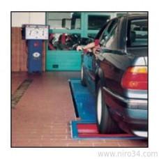 Роликовый тормозной стенд с аналоговой индикацией для автомобилей до 3500 кг.
