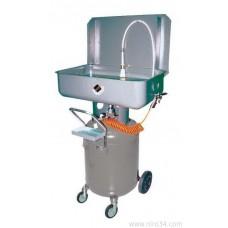 Установка для промывки деталей мобильная пневматическая, объем ванны 70 л. , на баке