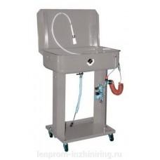 Установка для промывки деталей мобильная пневматическая, объем ванны 60 л. без внутренней емкости