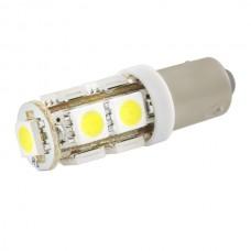 Лампа светодиод. 1-но контакт.  9 светодиодов желтая