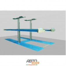 Подъемник двухплунжерный г/п 3500 кг. платформенный с Н плунжерным подъем. второго уровня