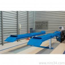 Подъемник двухплунжерный г/п 3500 кг платформы для сход-развала
