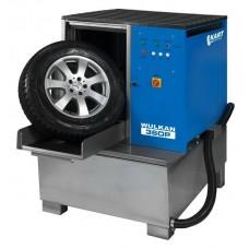 Мойка для колес легковых и грузовых автомобилей с пневматической стабилизацией колеса